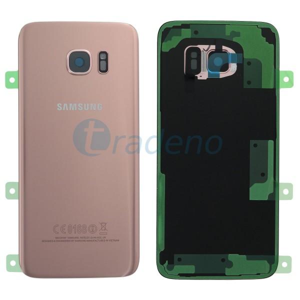 Samsung G935F Galaxy S7 Edge Akkudeckel, Batterie Cover Pink, Gold