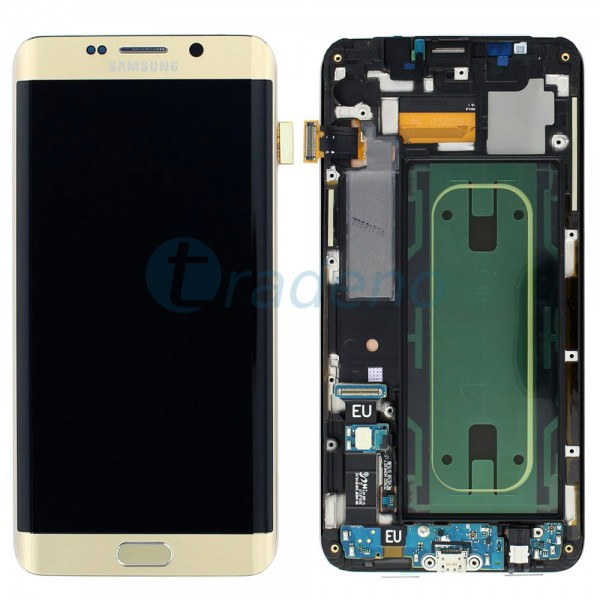 Samsung SM-G928F Galaxy S6 Edge Plus Display Einheit Gold - LCD + Touchscreen +