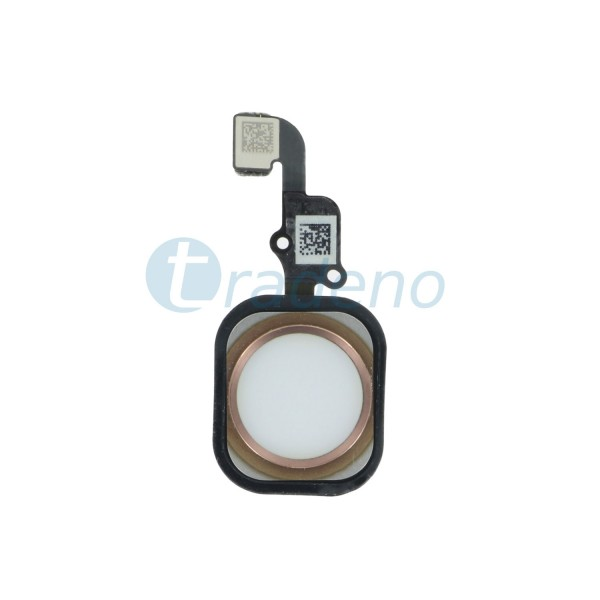 Homebutton Flex Komplett + Fingerabdruck Sensor für iPhone 6S Rose
