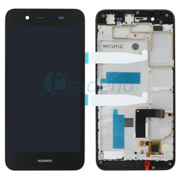 Huawei P8 Lite Smart Display Einheit, LCD, Rahmen Schwarz