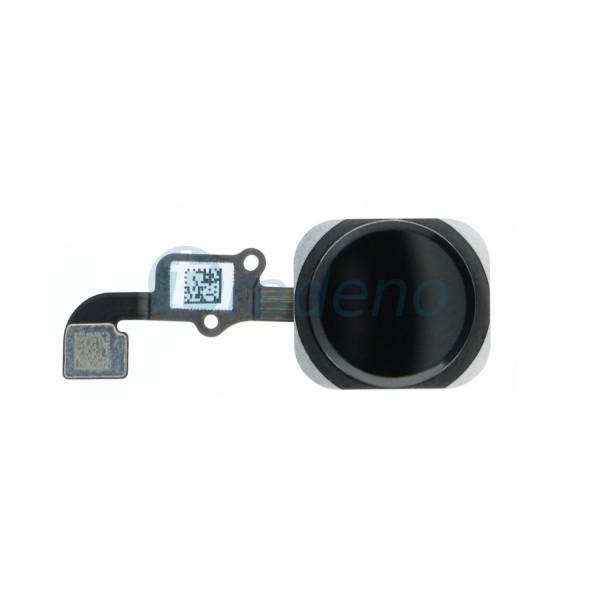 Homebutton Flex Komplett + Fingerabdruck Sensor Schwarz für iPhone 6, 6 Plus