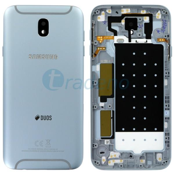 Samsung J730F Galaxy J7 (2017) Akkudeckel, Batterie Cover Silber, Blau