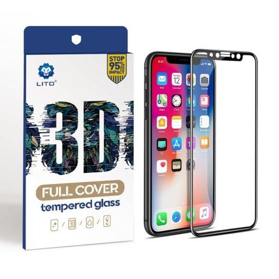 LITO 3D Full Cover Glasfolie, Schutzglas für Apple iPhone XS MAX / 11 Pro Max