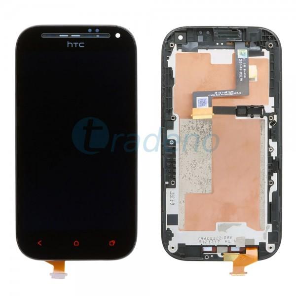 HTC One SV - Display Einheit - LCD + Touchscreen + Rahmen Schwarz