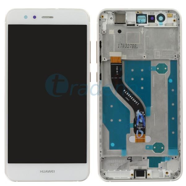 Huawei P10 Lite Display Einheit, LCD, Rahmen Weiss