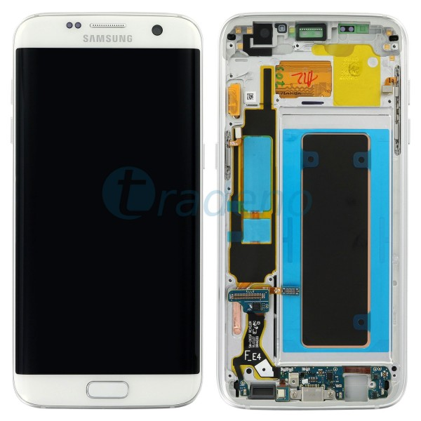 Samsung SM-G935F Galaxy S7 Edge - Display Einheit Weiss - LCD + Touchscreen