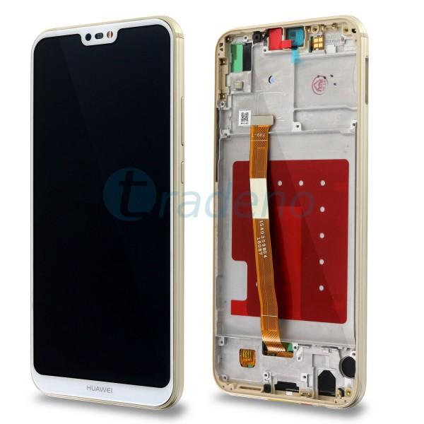 Huawei P20 Lite Display Einheit mit Rahmen Weiss