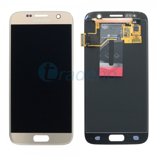 Samsung G930F Galaxy S7 - Display Einheit Gold - LCD + Touchscreen