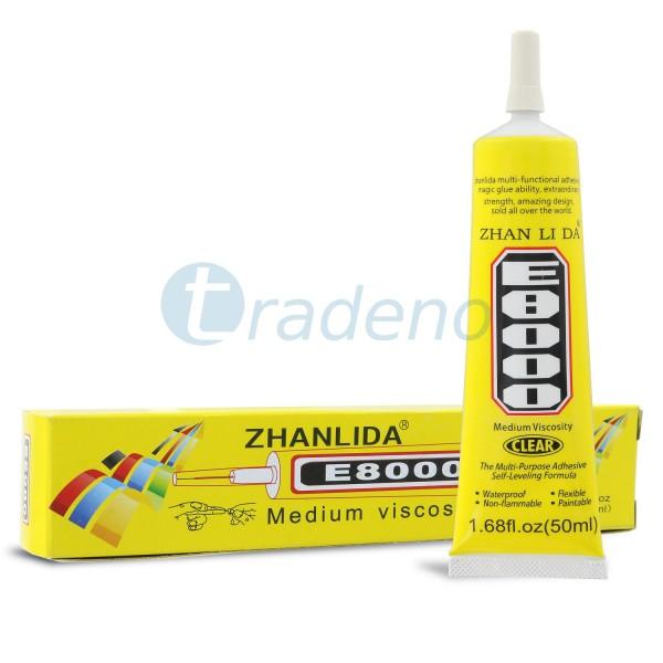 E8000 50ml Klebstoff, Alleskleber für Smartphones, Schmuck, Handwerk, Klar