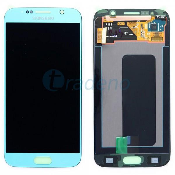 Samsung SM-G920F Galaxy S6 - Display Einheit Blau - Touchscreen + LCD