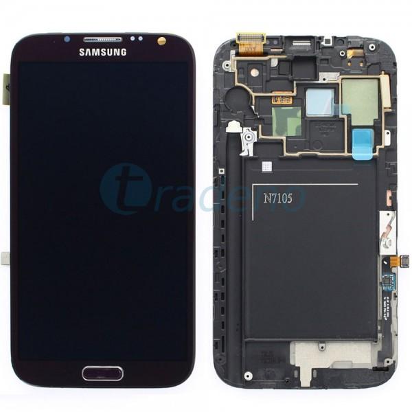 Samsung N7105 Galaxy Note 2 LTE - Display Einheit - LCD + Touchscreen + Rahmen,