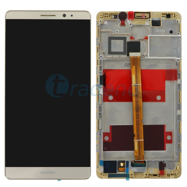 Huawei Ascend Mate 8 Display Einheit, LCD, Rahmen Gold