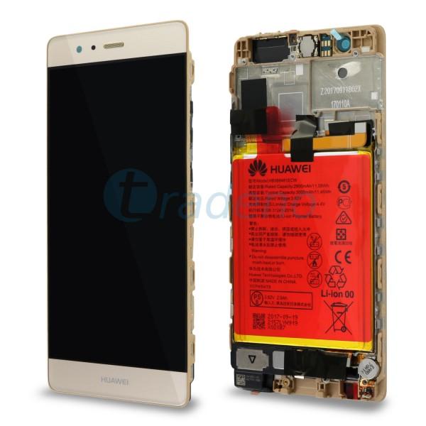 """Huawei Ascend P9 Display Einheit, LCD """"Bestückt"""" Serviceware, Gold"""