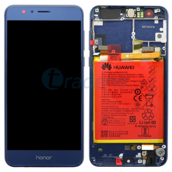 "Huawei Honor 8 Display Einheit, LCD ""Bestückt"" Serviceware, Blau"
