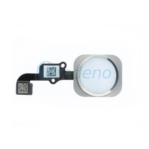 Homebutton Flex Komplett + Fingerabdruck Sensor Weiss für iPhone 6, 6 Plus