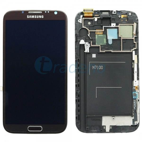 Samsung N7100 Galaxy Note 2 - Display Einheit - LCD + Touchscreen + Rahmen, Brau
