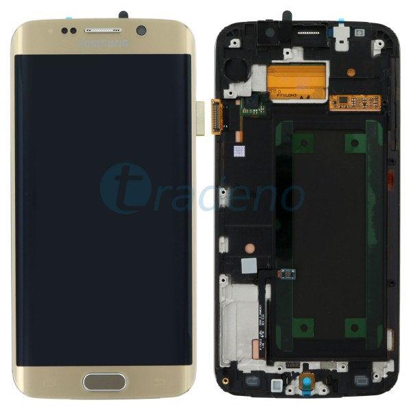 Samsung SM-G925F Galaxy S6 Edge - Display Einheit Gold - LCD + Touchscreen