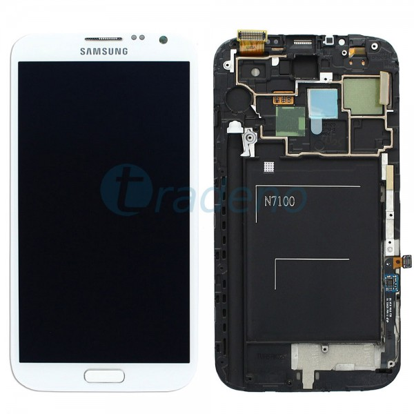 Samsung N7100 Galaxy Note 2 - Display Einheit - LCD + Touchscreen + Rahmen, Weis