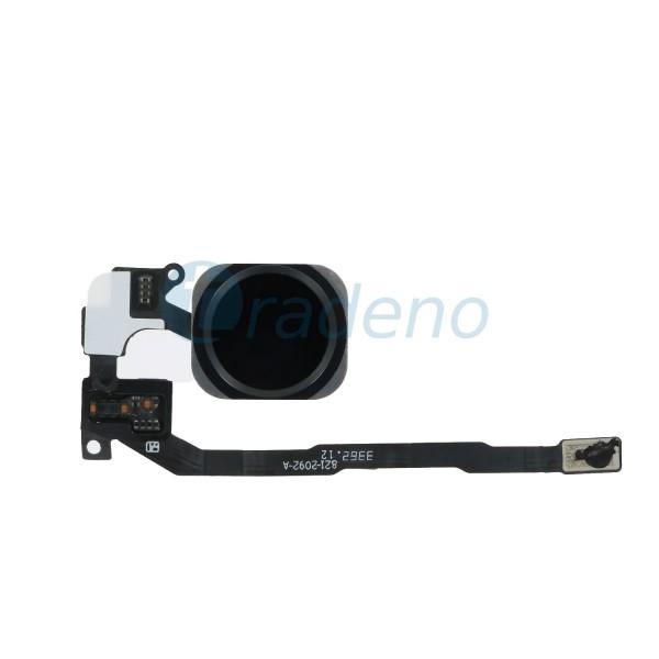 Home Button / Fingerabdruck Sensor Flex Kabel für iPhone 5S / SE - Schwarz