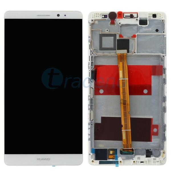 Huawei Ascend Mate 8 Display Einheit, LCD, Rahmen Weiss