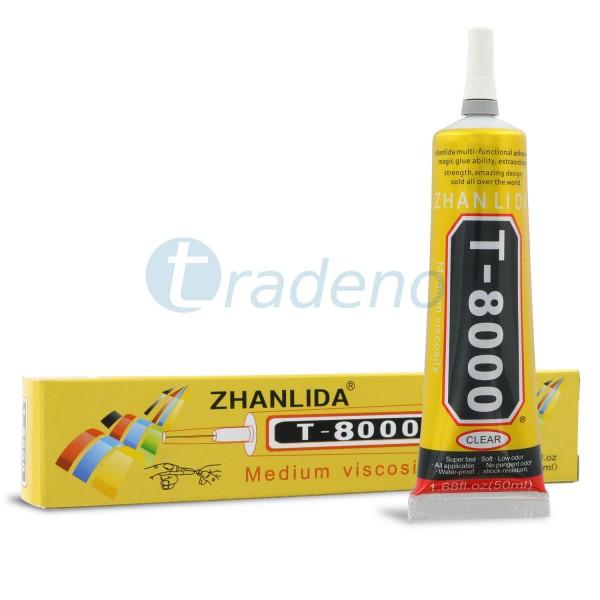 T-8000 50ml Klebstoff, Alleskleber für Smartphones, Schmuck, Handwerk - Klar