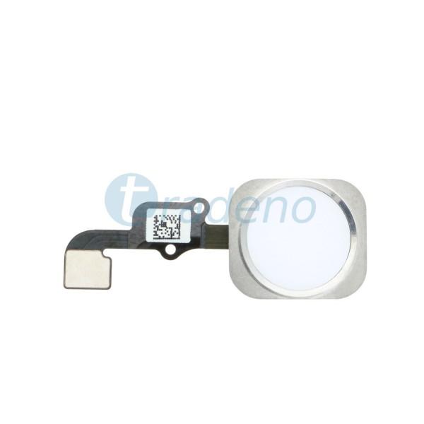 Homebutton Flex Komplett + Fingerabdruck Sensor für iPhone 6S Weiss