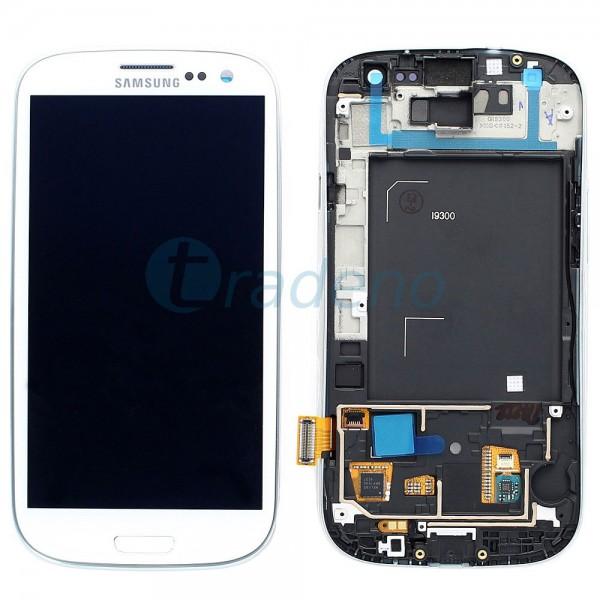 Samsung I9300 Galaxy S3 - Display Einheit - LCD + Touchscreen + Rahmen, Weiss