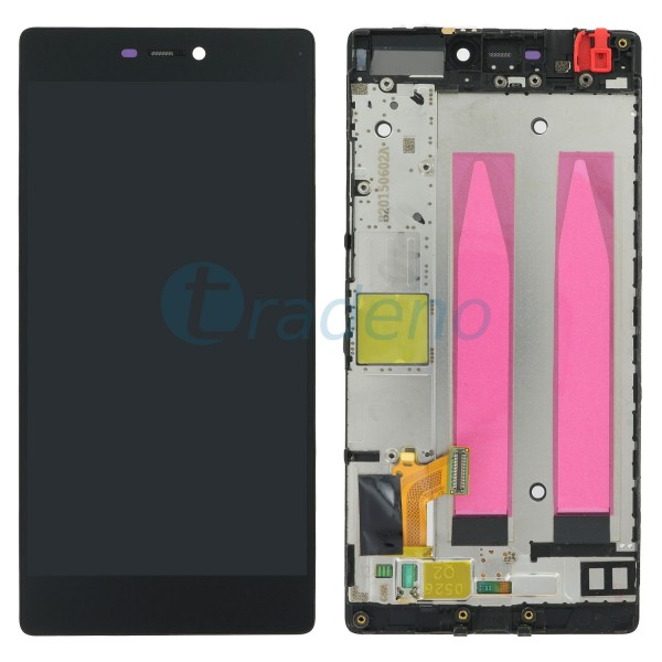 Huawei P8 Display Einheit, LCD, Rahmen Schwarz