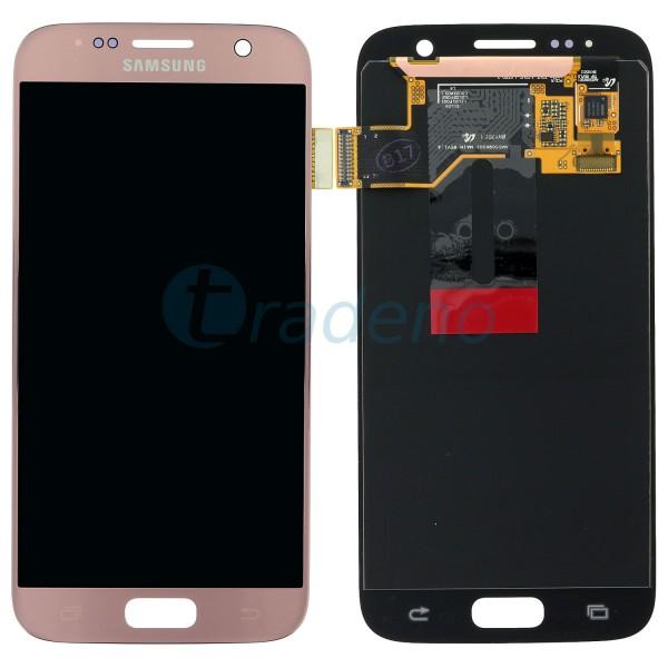 Samsung G930F Galaxy S7 Display Einheit, LCD Gold Pink