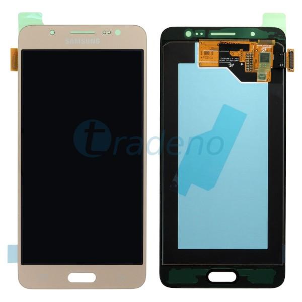 Samsung SM-J710FN Galaxy J7 2016 Display Einheit Gold - Touchscreen + LCD
