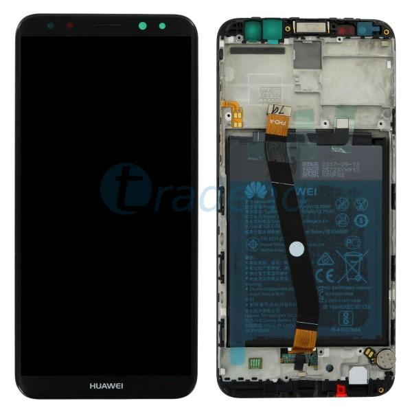 """Huawei Mate 10 Lite Display Einheit, LCD """"Bestückt"""" Serviceware Schwarz + Rahmen"""