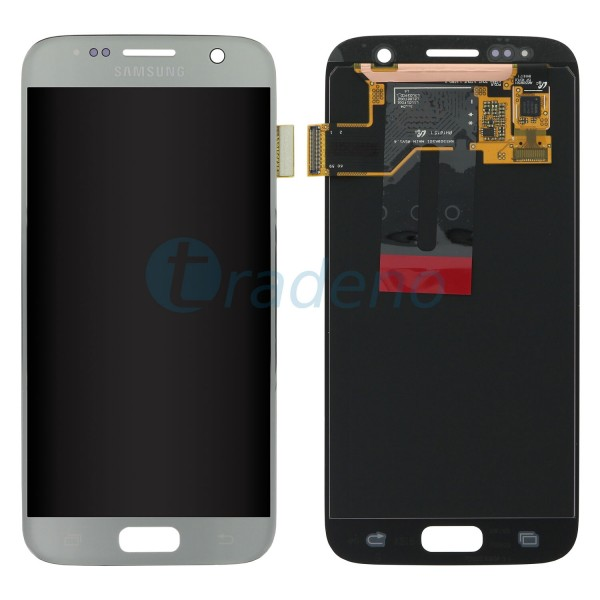 Samsung SM-G930F Galaxy S7 - Display Einheit Silber - Touchscreen + LCD