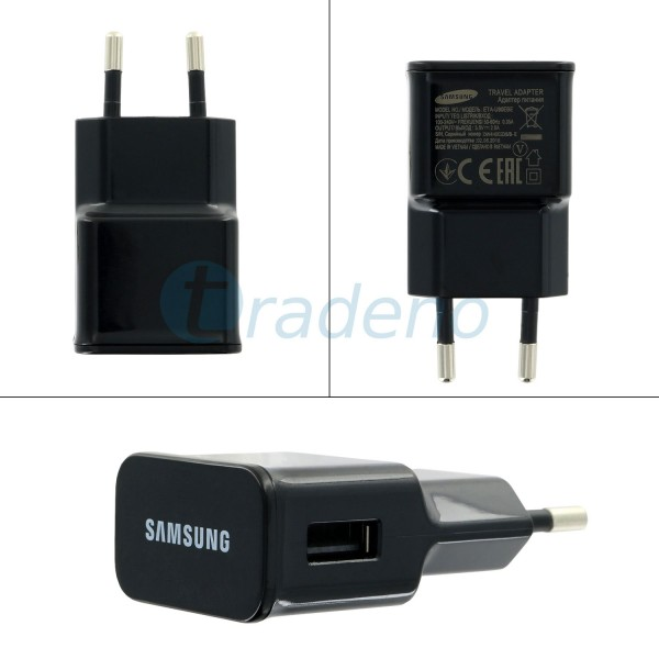 Samsung Ladegerät, Adapter, Netzteil ETAU90EBE Schwarz (ohne Datenkabel)