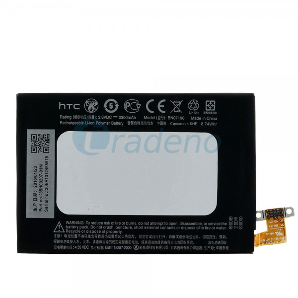 HTC One M7 - Akku Batterie BN07100 2300mAh 35H00207-01M