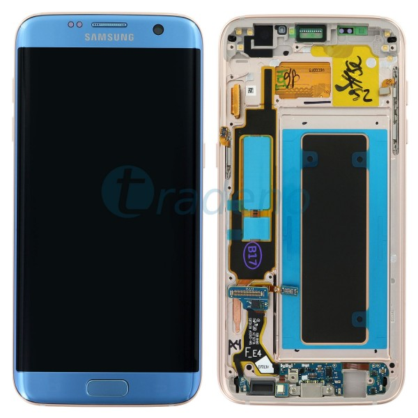 Samsung G935F Galaxy S7 Edge Display Einheit - LCD + Touchscreen Blau
