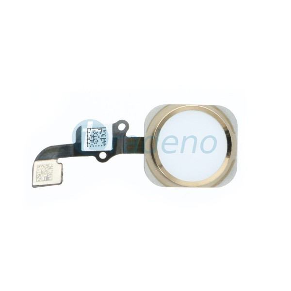 Homebutton Flex Komplett + Fingerabdruck Sensor Gold für iPhone 6, 6 Plus