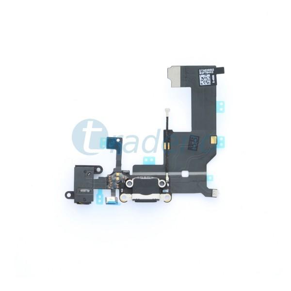 Dock Connector mit Audio Buchse Schwarz für iPhone 5