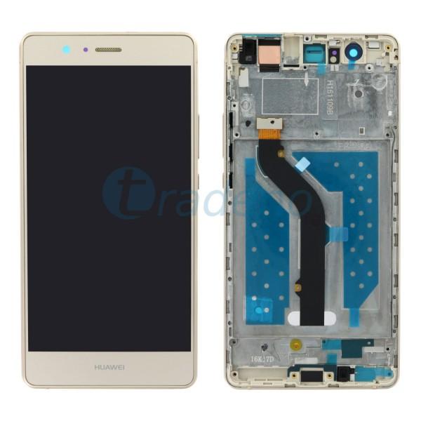 Huawei P9 Lite Display Einheit, LCD, Rahmen Gold