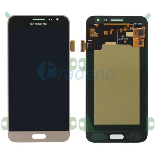 Samsung J320FN, J320F Galaxy J3 (2016) Display Einheit Gold - LCD + Touchscreen
