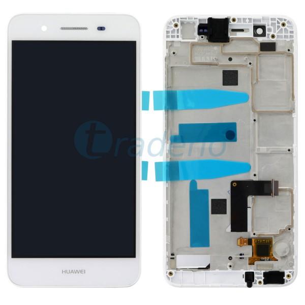 Huawei P8 Lite Smart Display Einheit, LCD, Rahmen Weiss