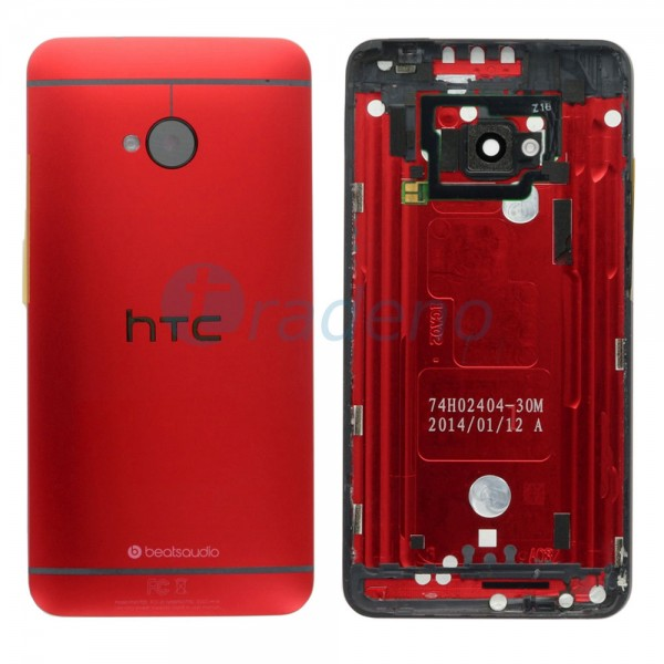 HTC One M7 - Akkudeckel Rot