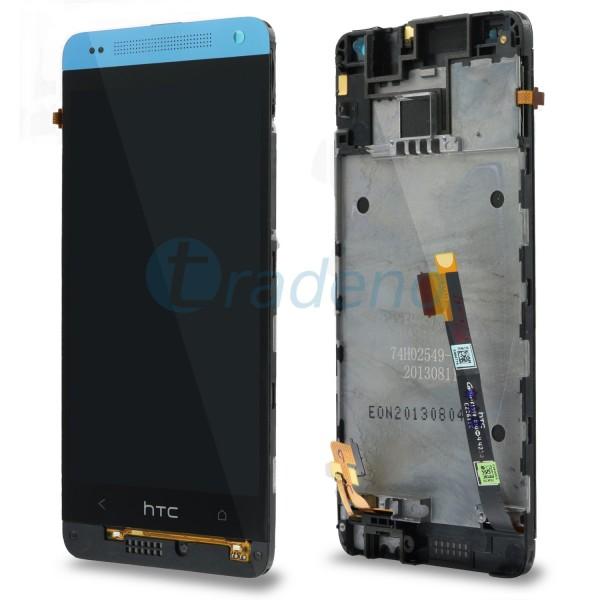 HTC One Mini M4 - Display Einheit - LCD + Touchscreen + Rahmen Blau