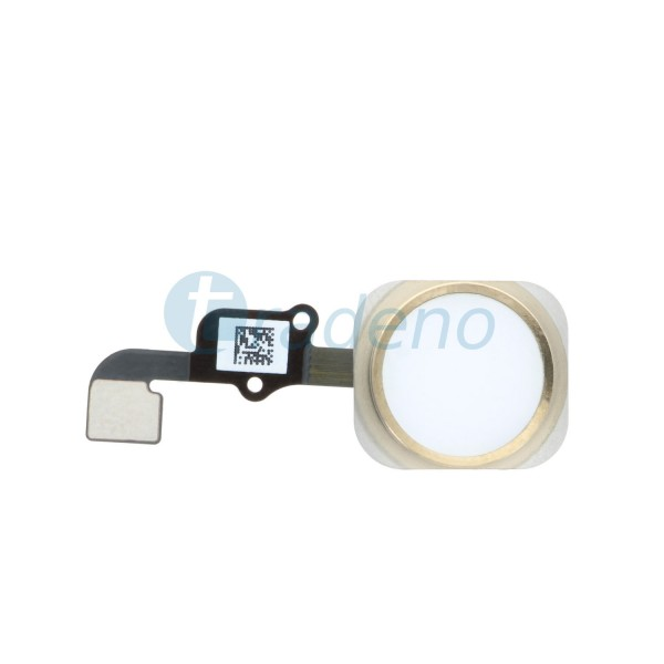 Homebutton Flex Komplett + Fingerabdruck Sensor für iPhone 6S Gold