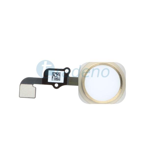Homebutton Flex Komplett + Fingerabdruck Sensor für iPhone 6S Gold
