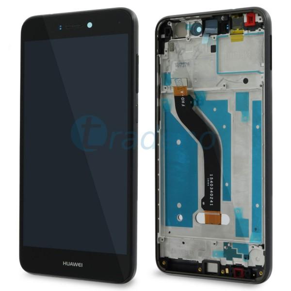 Huawei P8 Lite 2017 Display Einheit, LCD, Rahmen Schwarz