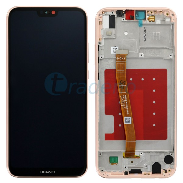 Huawei P20 Lite Display Einheit mit Rahmen Pink