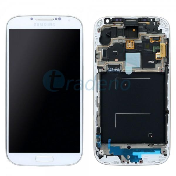 Samsung I9500 Galaxy S4 - Display Einheit - LCD + Touchscreen + Rahmen, Weiss