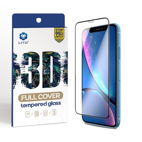 LITO 3D Full Cover Glasfolie, Schutzglas für Apple iPhone XR, iPhone 11