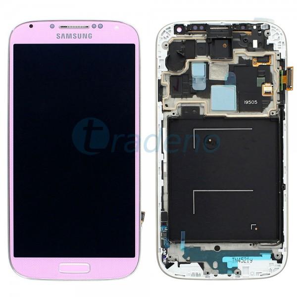 Samsung I9505 Galaxy S4 - Display Einheit - LCD + Touchscreen + Rahmen, Pink