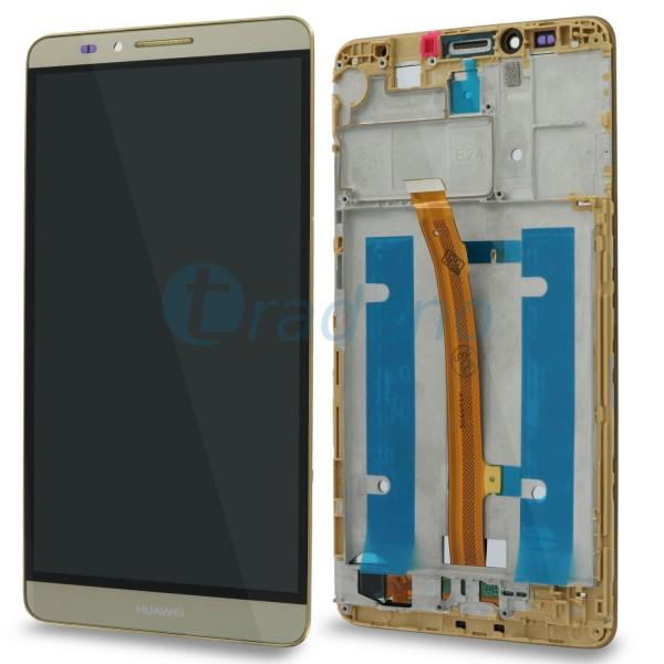 Huawei Ascend Mate 7 - Display Einheit - Touchscreen + LCD + Rahmen Gold